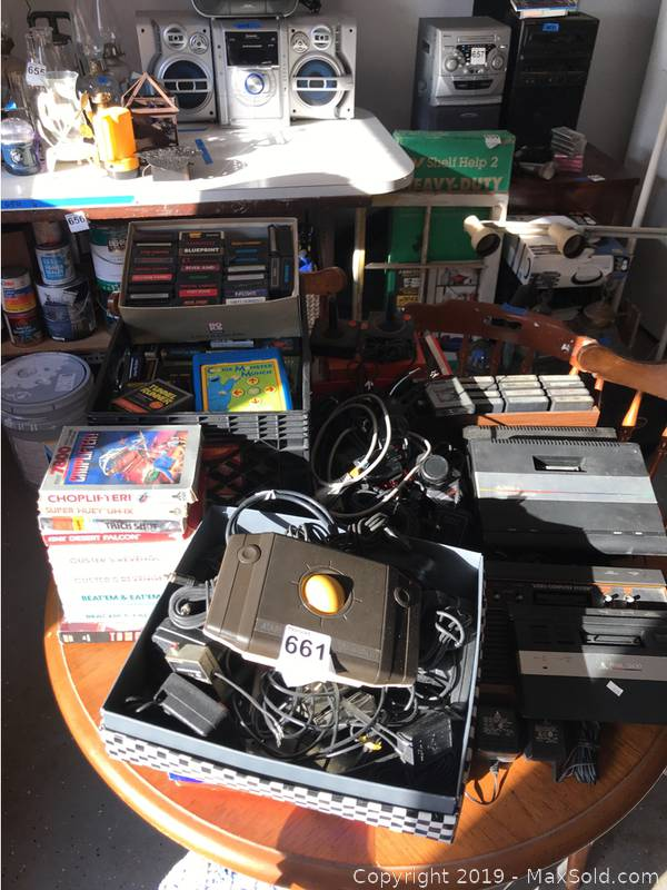Vintage Atari 7800 Game Systems