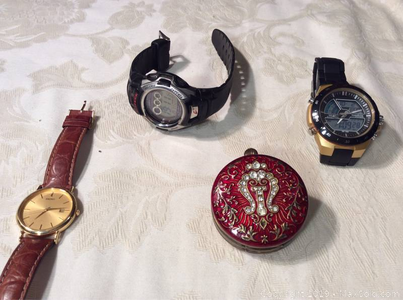 Watches And A Swiss Made Pocket Watch