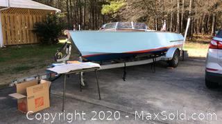 Custom Mahogany Speed Boat