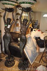 Mermaid Lamps Statue